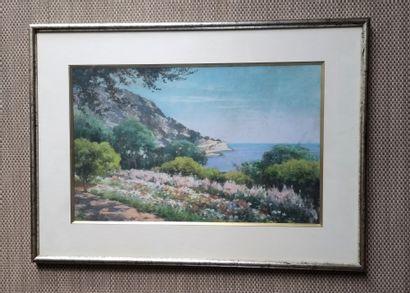 Louis-Emile MINET (1841-1923) Paysage de...