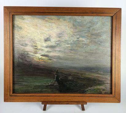 Henri FOREAU (1866-1938) Berger dans la plaine...