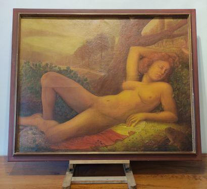 Adrien WEBER (XXème siècle) Femme alanguie...