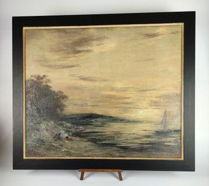 Henri FOREAU (1866-1938) Bivouac au bord...