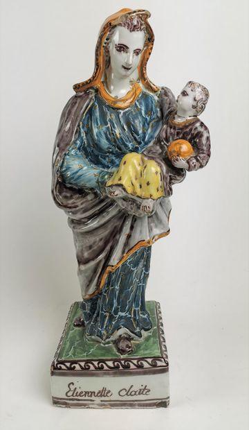 NEVERS Interessante et grande Vierge à l'enfant...