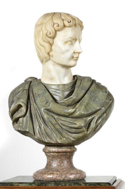 DANS LE GOUT du XVIIeme siècle Buste d'empereur...
