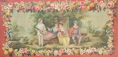Dans le gout du XVIIIe siècle Pierrot musicien...
