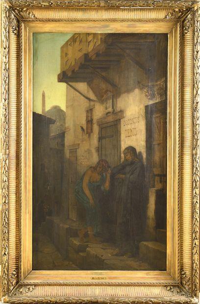 Hector LEROUX (1829-1900) Femmes en conversation...