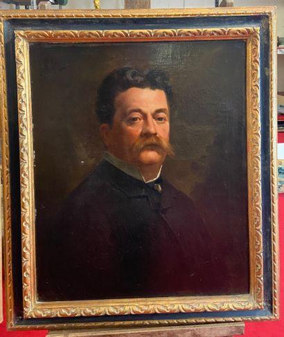 Ferdinand BASSOT (1843-1900) Portait d'homme...