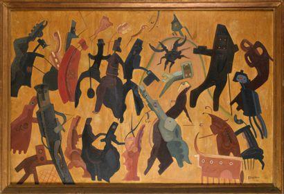 JEAN DE BOSSCHERE (1881-1953) Le crabe sur...