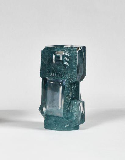 DAUM France Modèle « Argos » Vase en cristal...