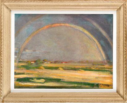 HENRY FARRÉ (1871-1934) Arc en Ciel vu...