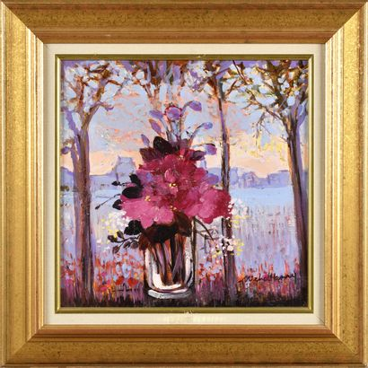 MICHEL HENRY (1928-2016) Le bouquet de roses...