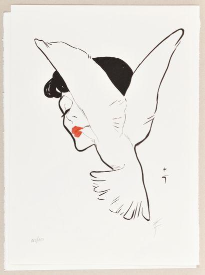 RENÉ GRUAU (1909-2004) Dior, le baiser de...
