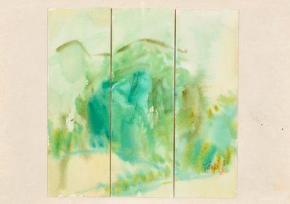 T'ANG HAYWEN (1927-1991) Sans titre, 1990...
