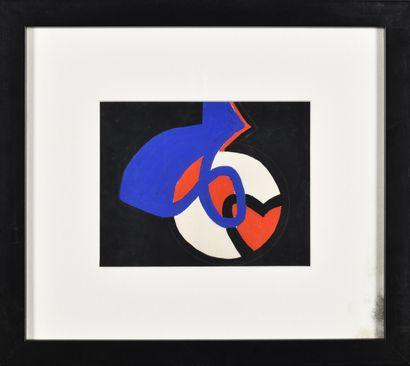JAMES PICHETTE (1920-1996) Sans titre (noir,...