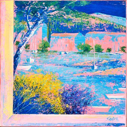 MARIO SOAVE (Né en 1955) Finestra Huile sur...