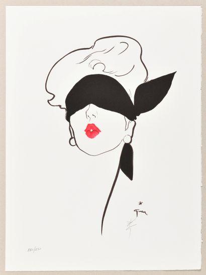 RENÉ GRUAU (1909-2004) Rouge Baiser Lithographie...
