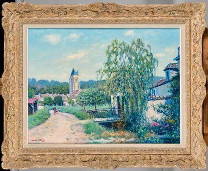 MAURICE LEMAITRE (Né en 1929) L'église de...