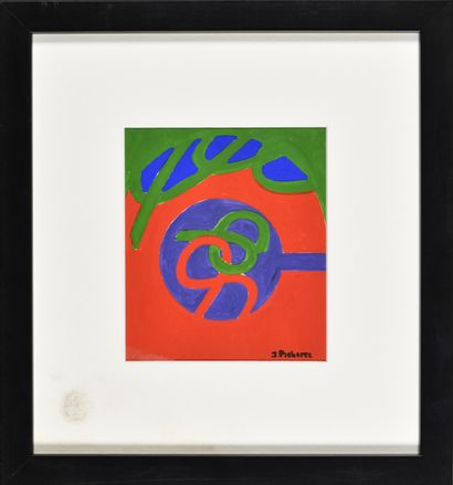 JAMES PICHETTE (1920-1996) Sans titre (bleu,...