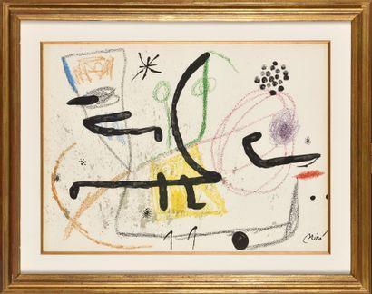 JOAN MIRO (1893-1983) Planche pour MARAVILLAS...