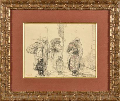 PAUL JOUVE (1878-1973) Habitants de Monastir,...