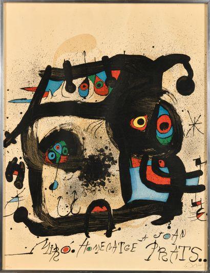 JOAN MIRO (1893-1983) Hommage à Joan Prats...