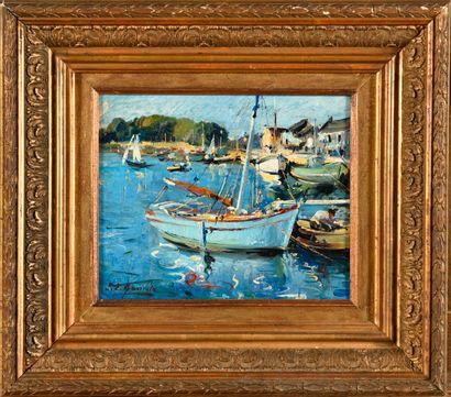 LOUIS EDOUARD GARRIDO (1893-1982) Port de...