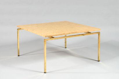 TRAVAIL DES ANNEES 1970 Table basse à plateau...