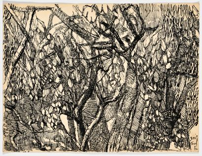 LOUIS SOUTTER (1871-1942) Bois touffu (Forêt...
