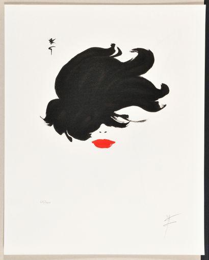 RENÉ GRUAU (1909-2004) Rouge baiser, cheveux...