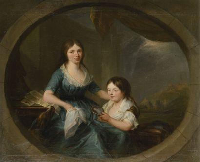 JACQUES WILBAUT (1729-1816) Mère et son enfant...