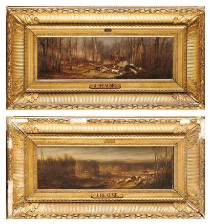 BEAUME Joseph (Marseille 1796- Paris1885) «Chasse à courre au cerf» n°174; «Chasse...