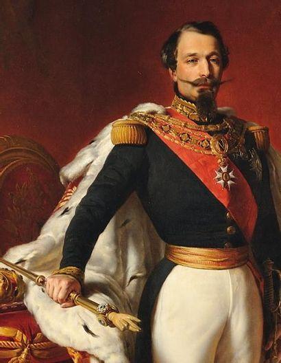 Ecole Française du XIXe siècle (Anonyme) «Portrait de l'Empereur Napoléon III» «Portrait...