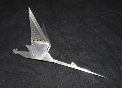 «Cigogne» en aluminium, stylisée Art Déco,...