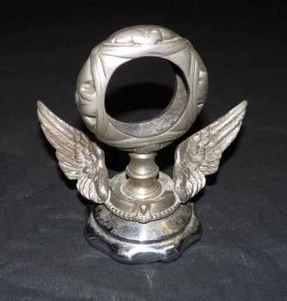 «Saint Cristophe ailé» Bronze signé F.Bazin,...