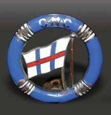 «CNC» Badge club nautique, Haut. 80 mm