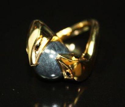 BOUCHERON - Bague «serpent» en or jaune,...