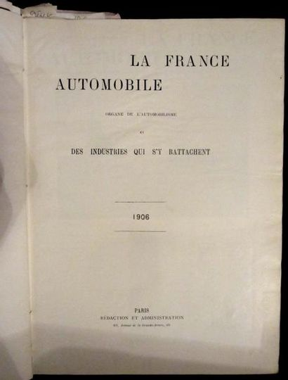 La France Automobile 1906, 11 ème année,...