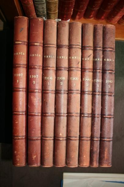 Omnia, les années 1907 à 1910, soit 8 volumes...