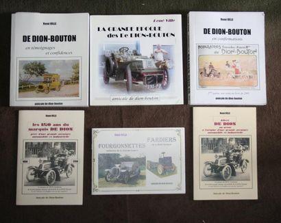 De Dion Bouton, lot comprenant 3 livres édités...
