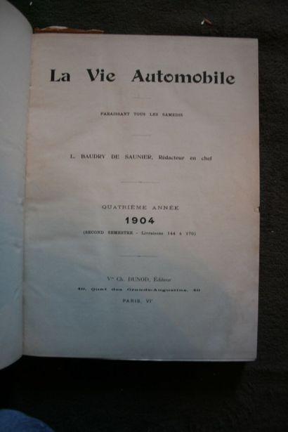 La Vie Automobile 1904, année reliée en 2...