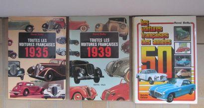 Lot comprenant les Voitures francaises 1935...