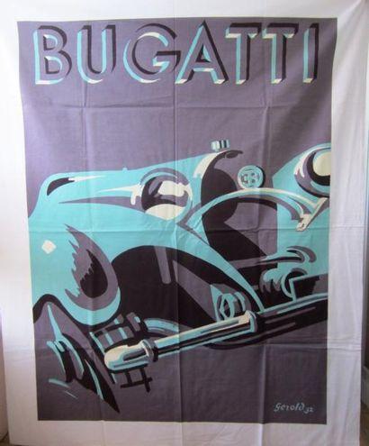 Nappe reproduisant la célèbre affiche Bugatti...
