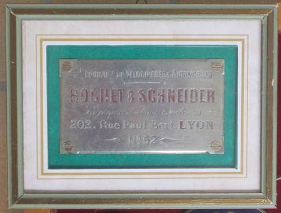 Superbe et rare plaque d'identification de...