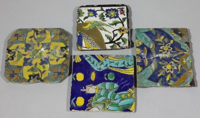 Divers carreaux de revetement Ceramique peinte...