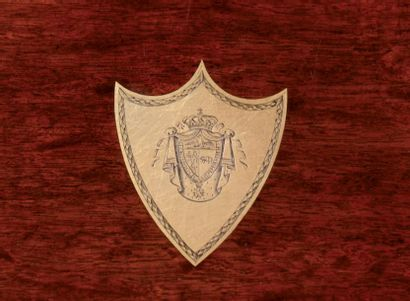 Coffret écritoire par BIENNAIS aux «Armes de Talleyrand, Prince de Bénévent.» En...