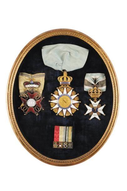 Rarissime bijou de Grand Croix du Général LEFEBVRE DESNOUETTES Etoile en or à douze...