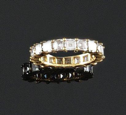 ALLIANCE en or jaune ornee de diamants de...