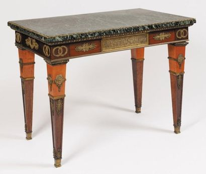 RARE TABLE DE MILLIEU de forme rectangulaire,...