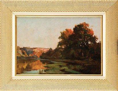 François Richard de MONTHOLON (1856-1940) La Fosse aux Brèmes, près de Oudon Sur...