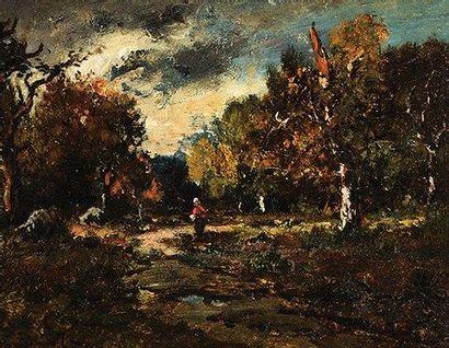 """""""Narcisse Virgile DIAZ DE LA PEÑA (1807-1876) Fagotière en forêt de Fontainebleau..."""