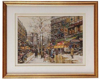 Eugène GALIEN-LALOUE (1854-1941) Boulevard Bonne Nouvelle - Vue de la Porte Saint...