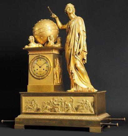 TRES IMPORTANTE ET MONUMENTALE PENDULE en bronze dore Chef d?oeuvre de andre galle....